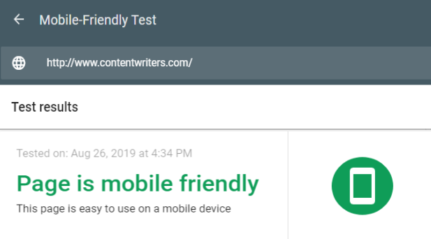 CW Mobile Friendly Test