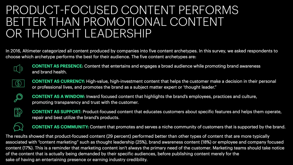 product focused content thought leadership 2