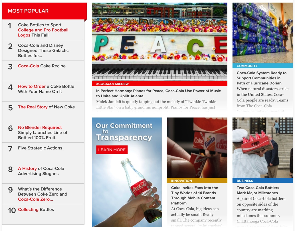 effective blog cocacola