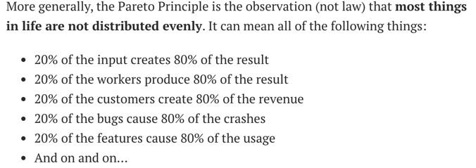 pareto principle 1