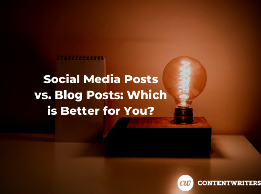 Social Media Posts vs. Blog Posts Which is Better for You