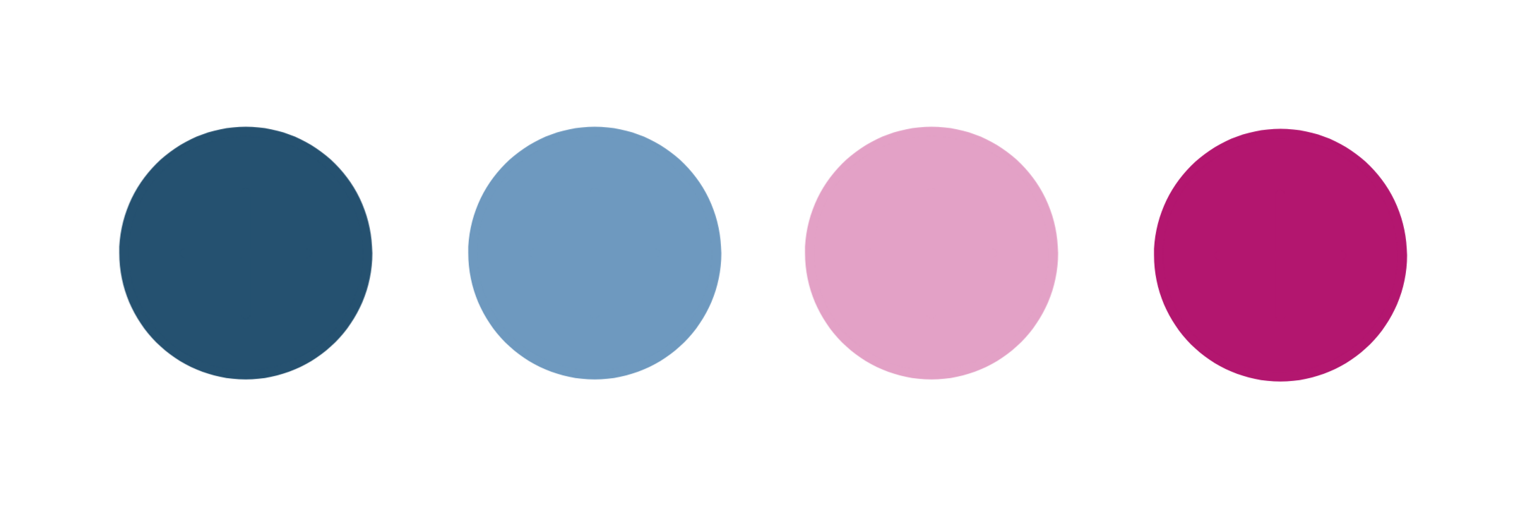ContentWriters' color palette: shades of blue and pink