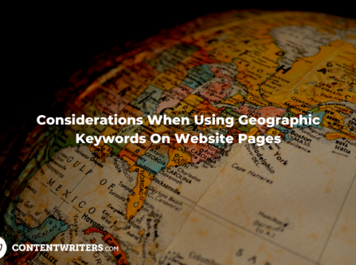 Considerations When Using Geographic Keywords On Website Pages