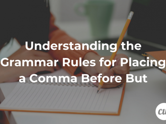Understanding the Grammar Rules for Placing a Comma Before But